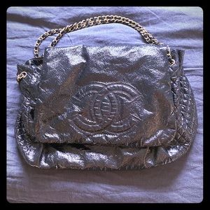 Chanel black rock & chain xl bag